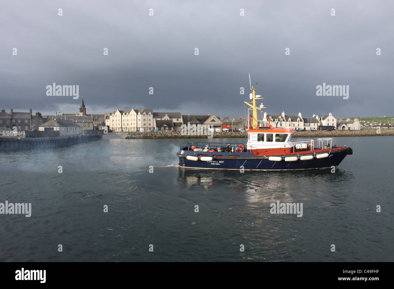 Fishing boat Kirkwall harbour Scotland May 2011 - Stock Image