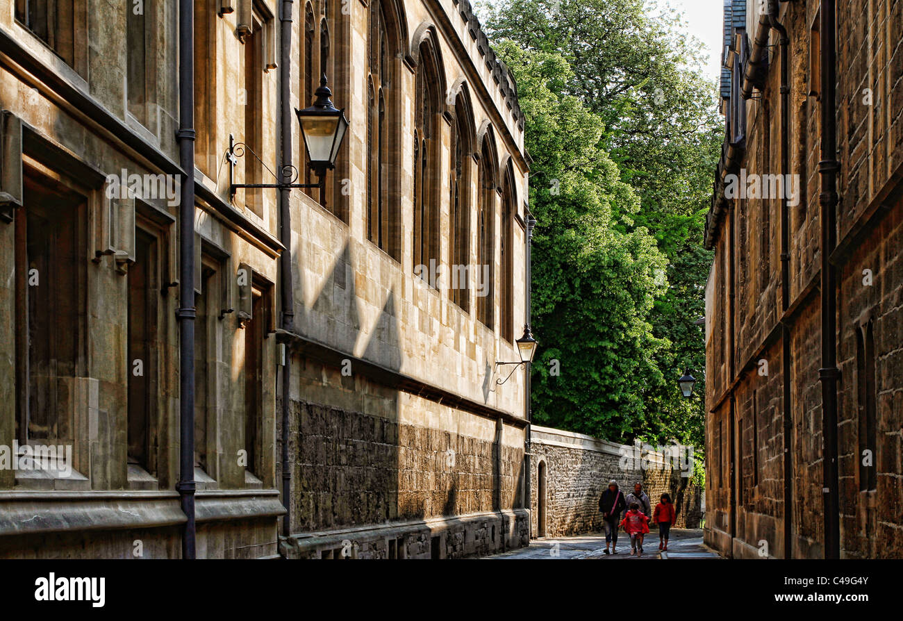 Brasenose Lane, Oxford, Oxfordshire, England - Stock Image