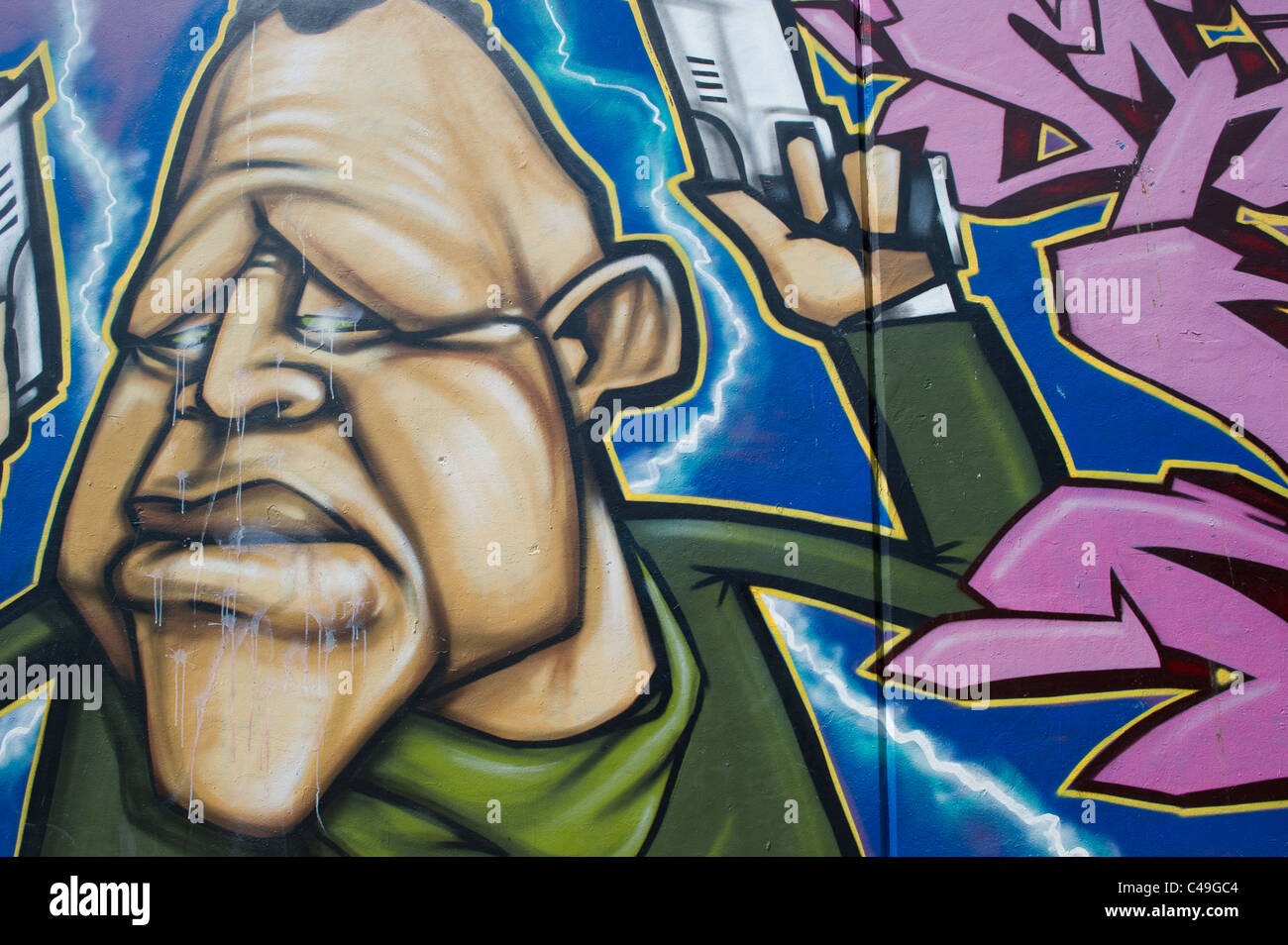 A wall of graffiti art at a skate park in leigh on sea essex uk a wall of graffiti art at a skate park in leigh on sea essex uk artists unknown altavistaventures Image collections