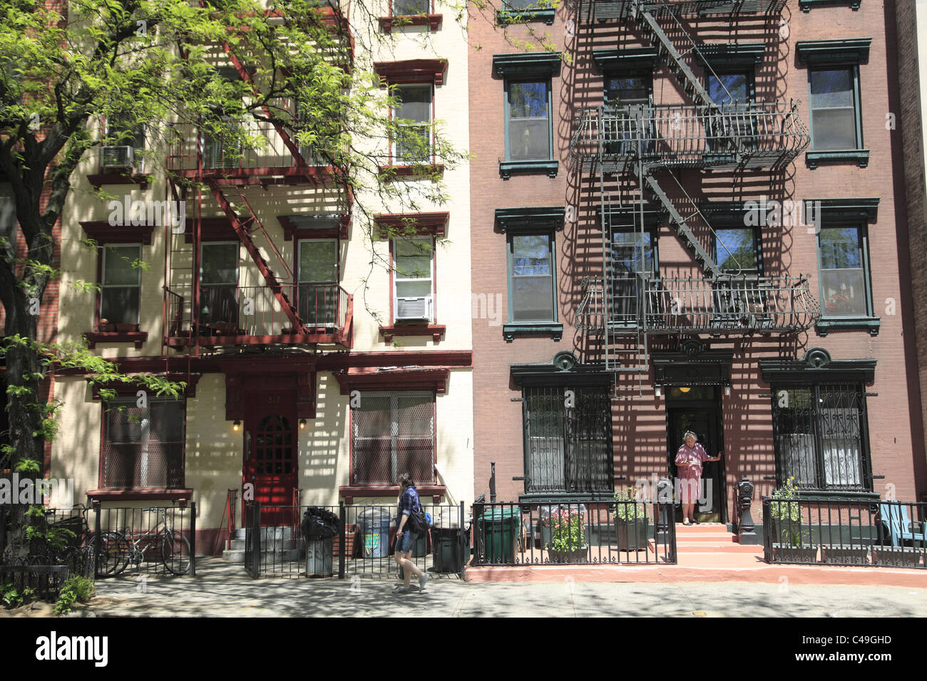 Apartment Buildings Tenements East Village Manhattan New York