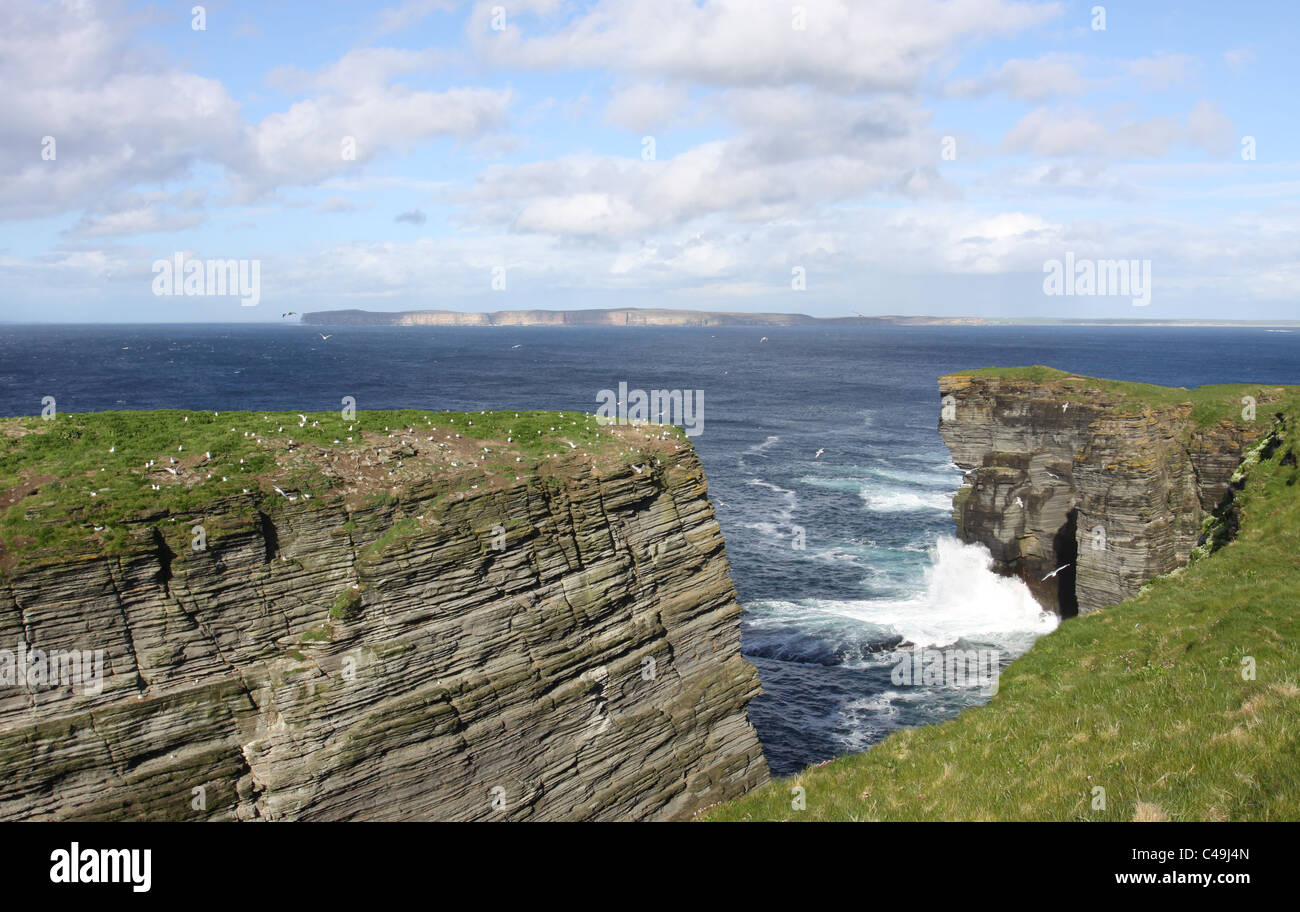 Island of Hoy viewed from Holborn Head Caithness Scotland May 2011 - Stock Image