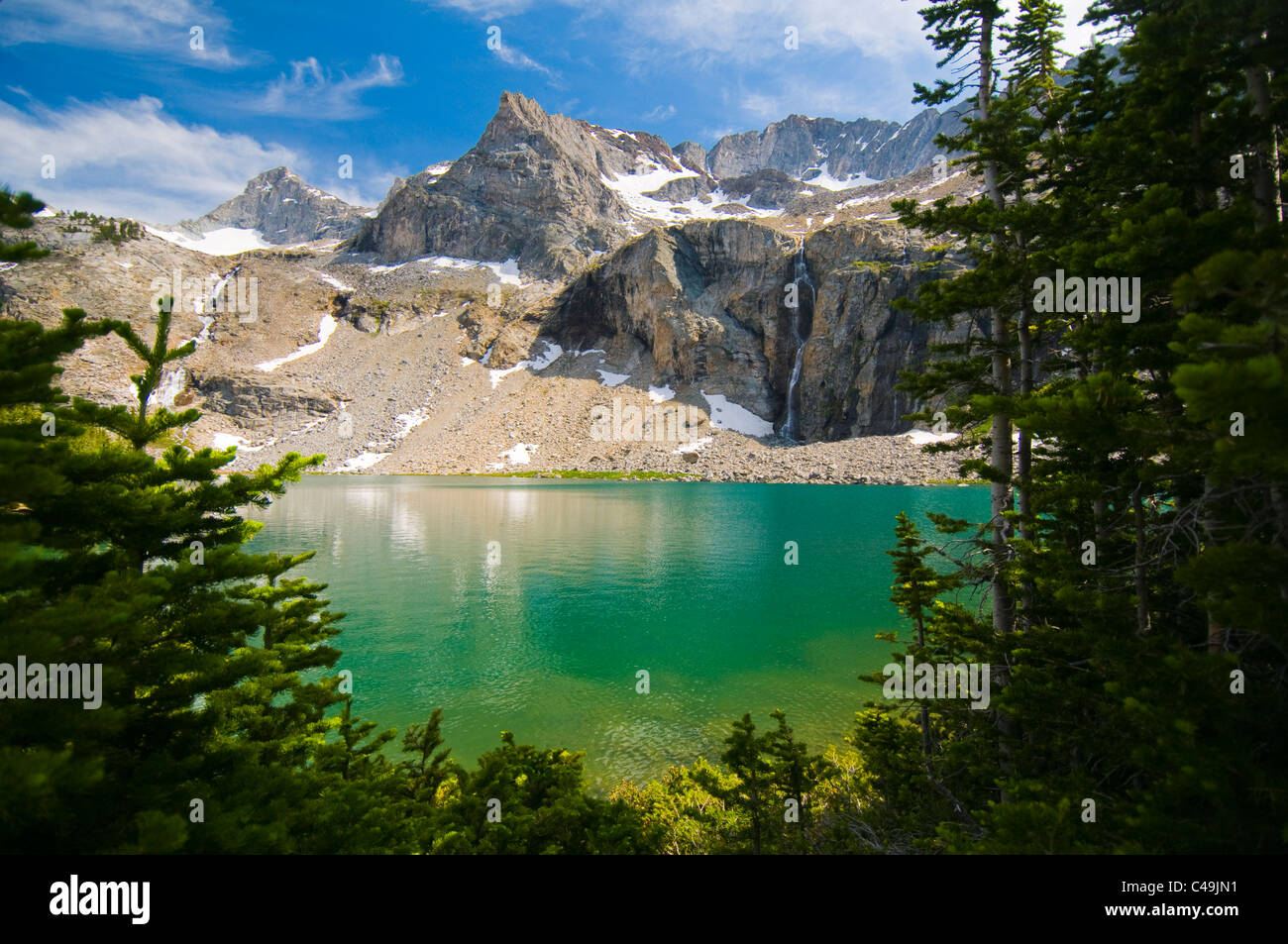 Kane Lake in the Pioneer Mountains ID - Stock Image