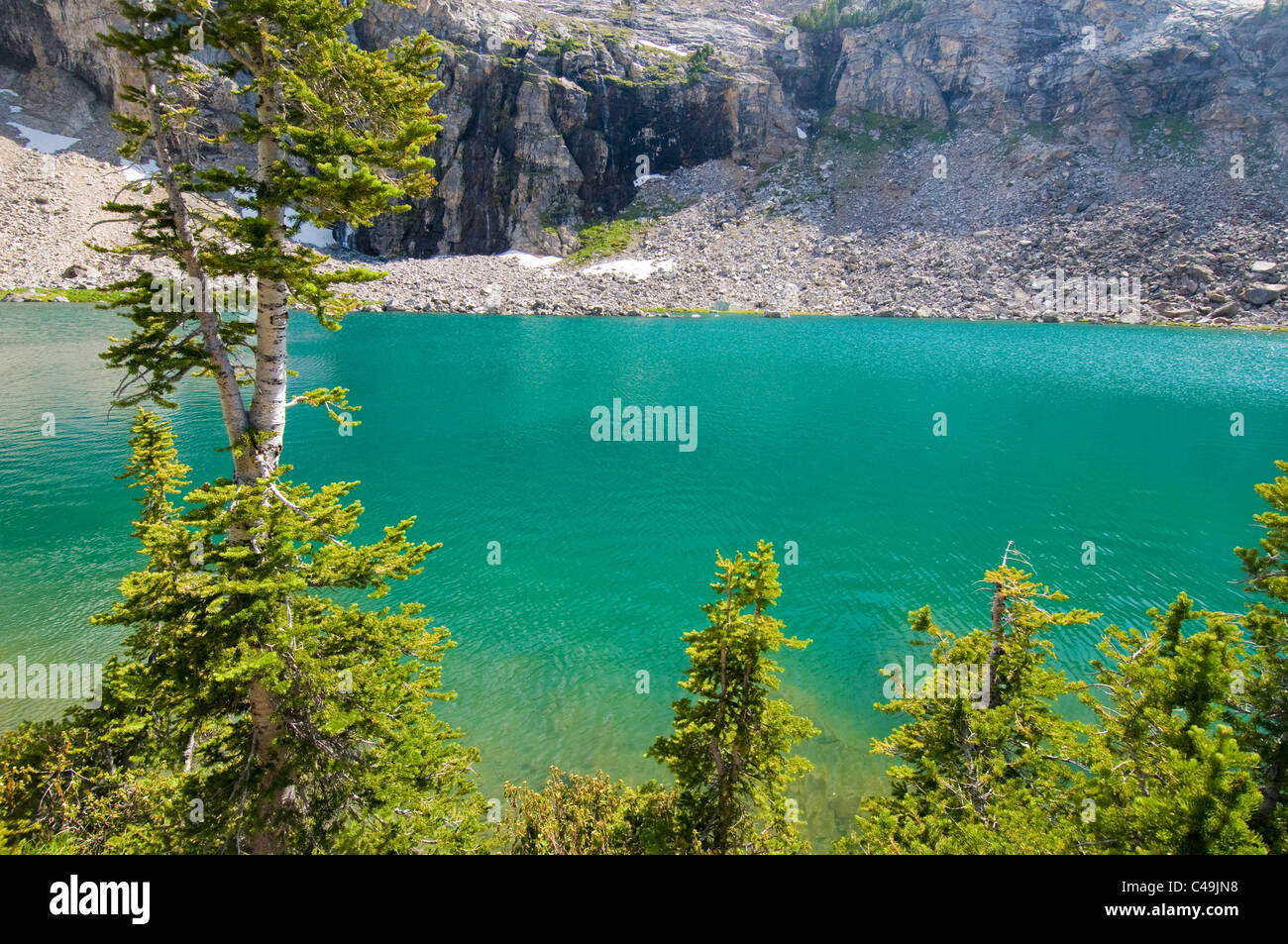 Kane Lake in the Pioneer Mountains in Idaho - Stock Image