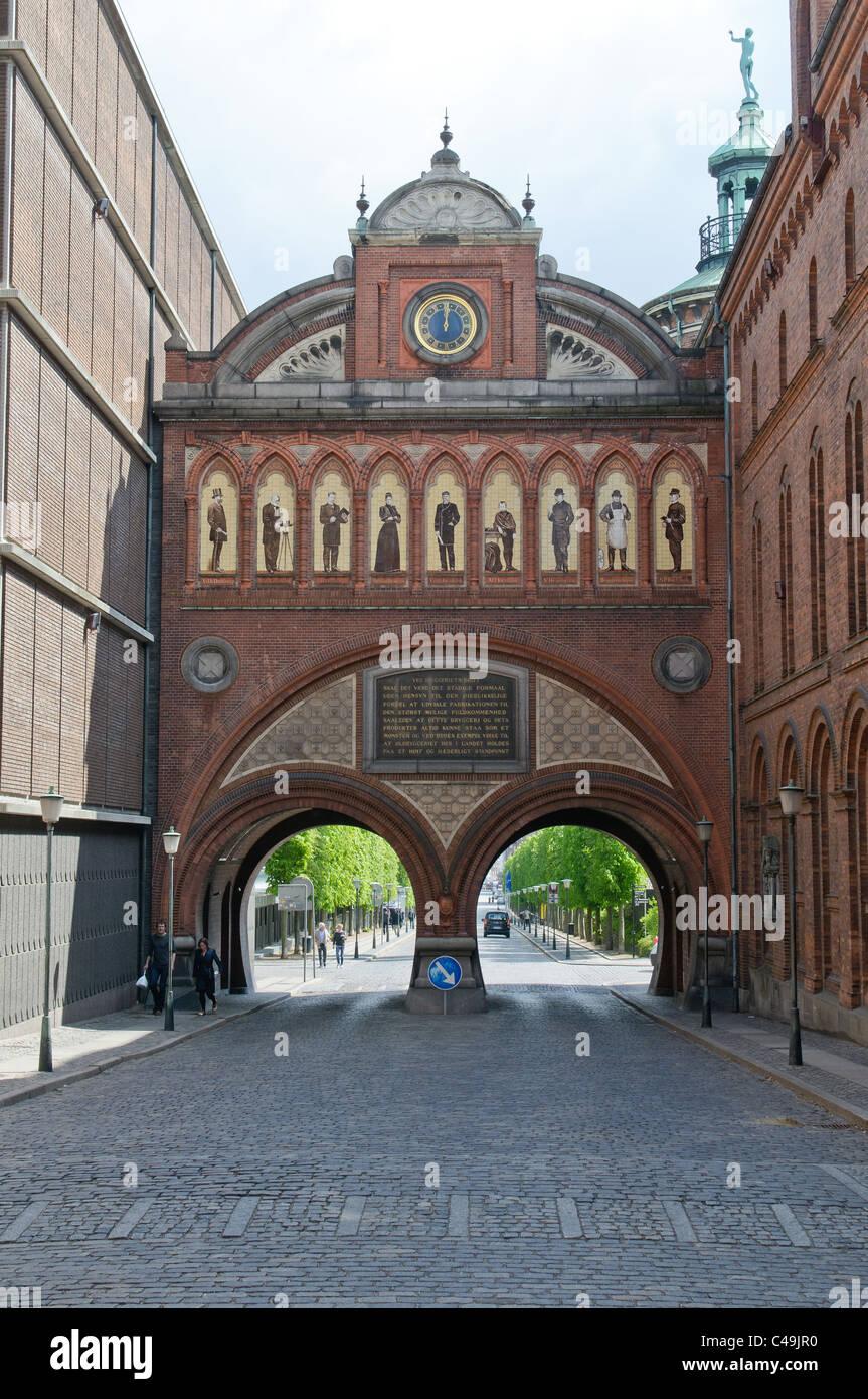 Old Carlsberg Brewery in Copenhagen, Denmark - Stock Image