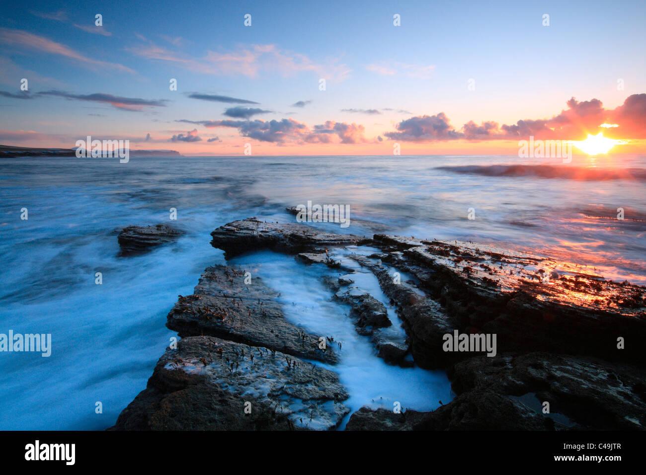 Orkney coastline near Marwick Head - Stock Image