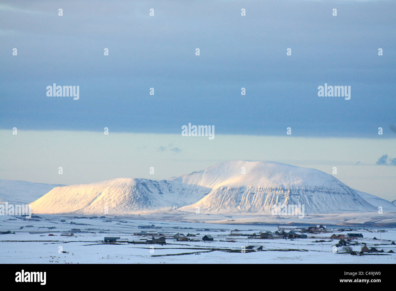 Ward Hill in winter, Orkney isles - Stock Image