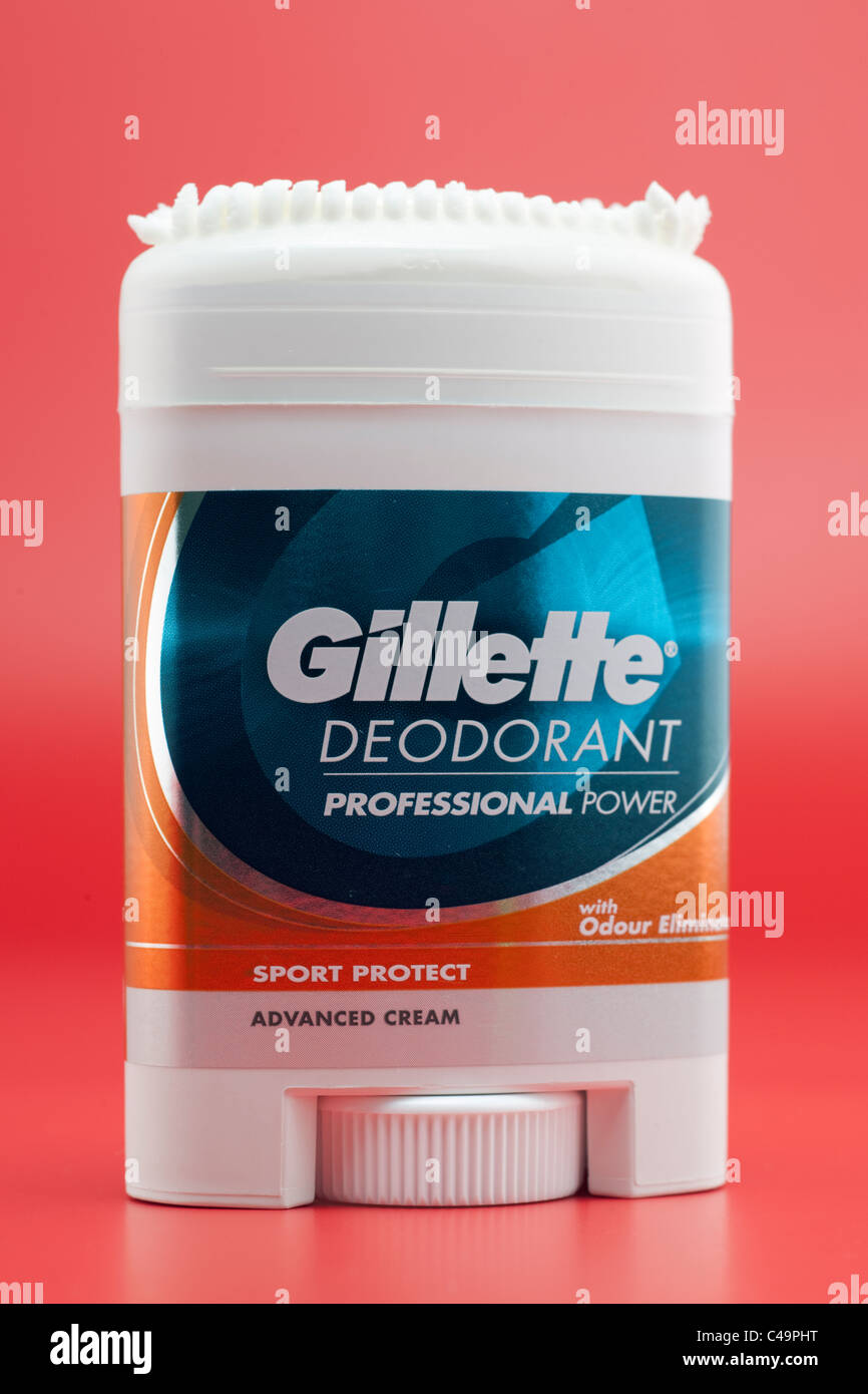 Gillette deodorant underarm cream dispenser Sport - Stock Image