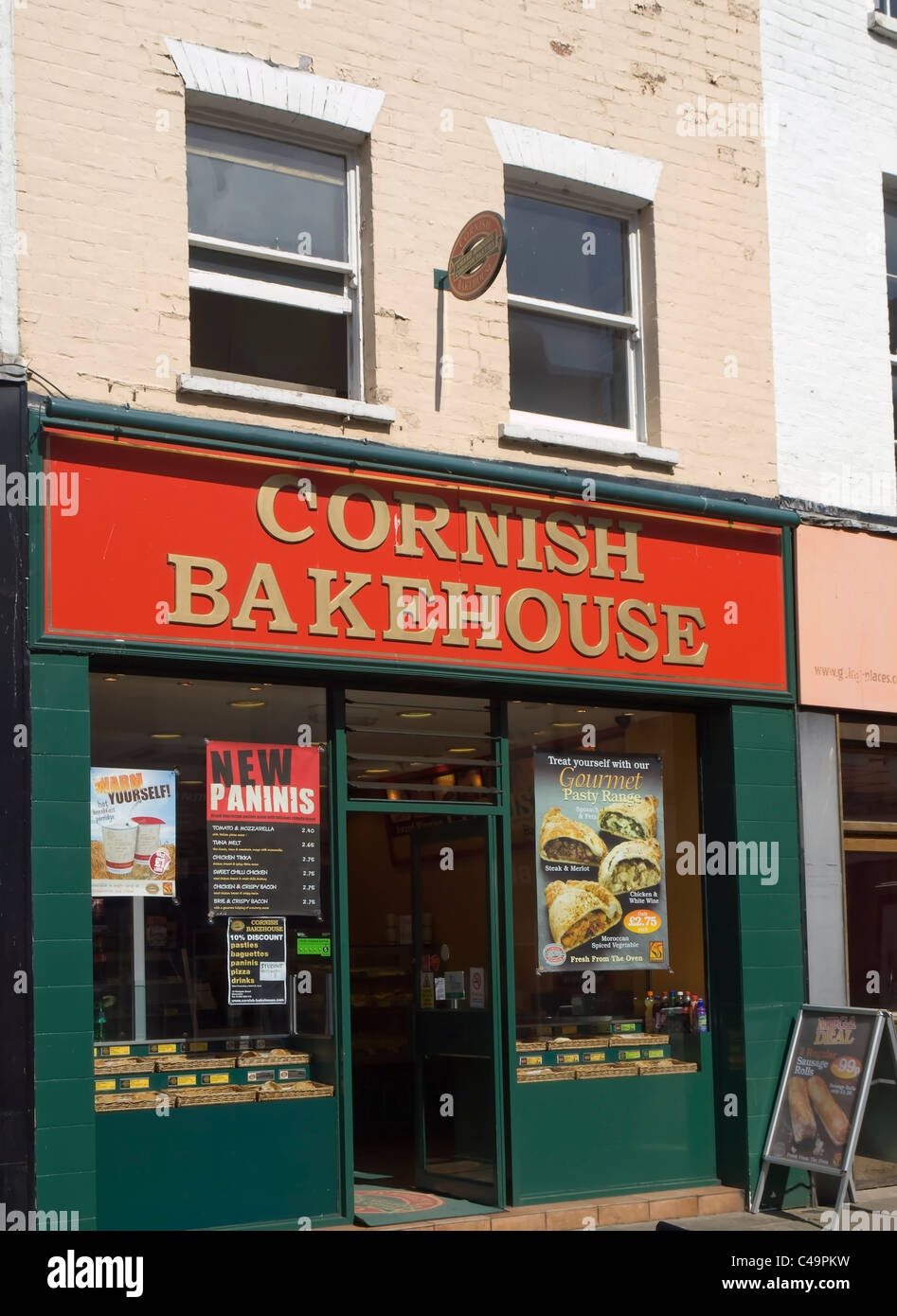 Branch of Cornish Bakehouse, the specialist pasty bakery chain in Westgate Street, Gloucester - Stock Image