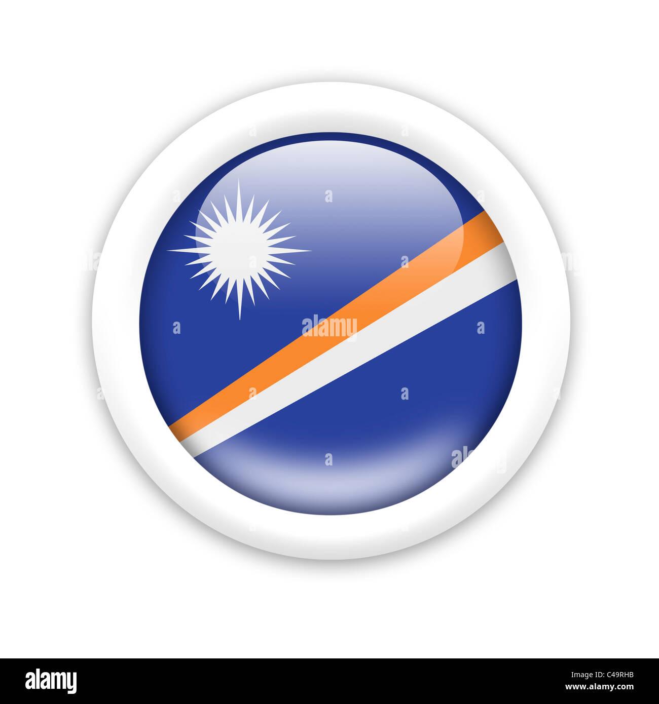 Flag of Marshall Islands - Stock Image