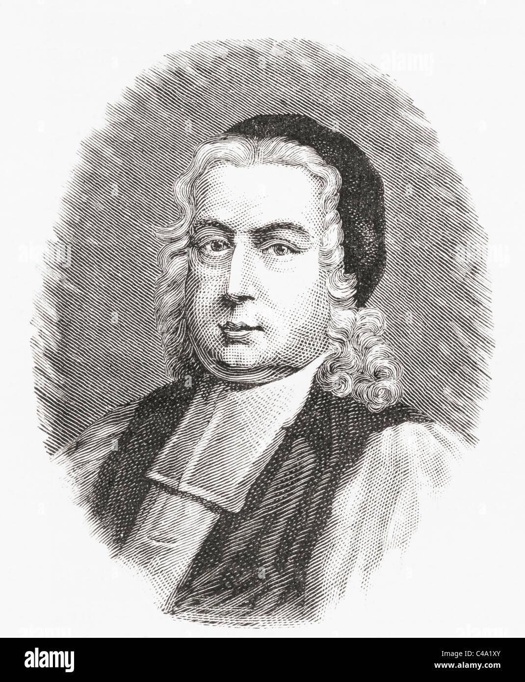 Thomas Wilson, 1663 – 1755. Anglican Bishop of Sodor and Man, York, England. - Stock Image