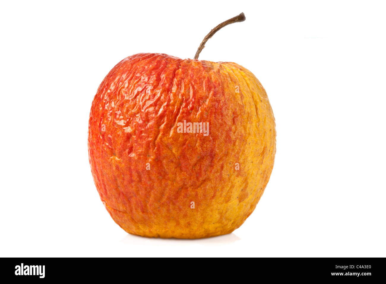 Dried Apple on white Background - Apfel, vertrocknet - Stock Image