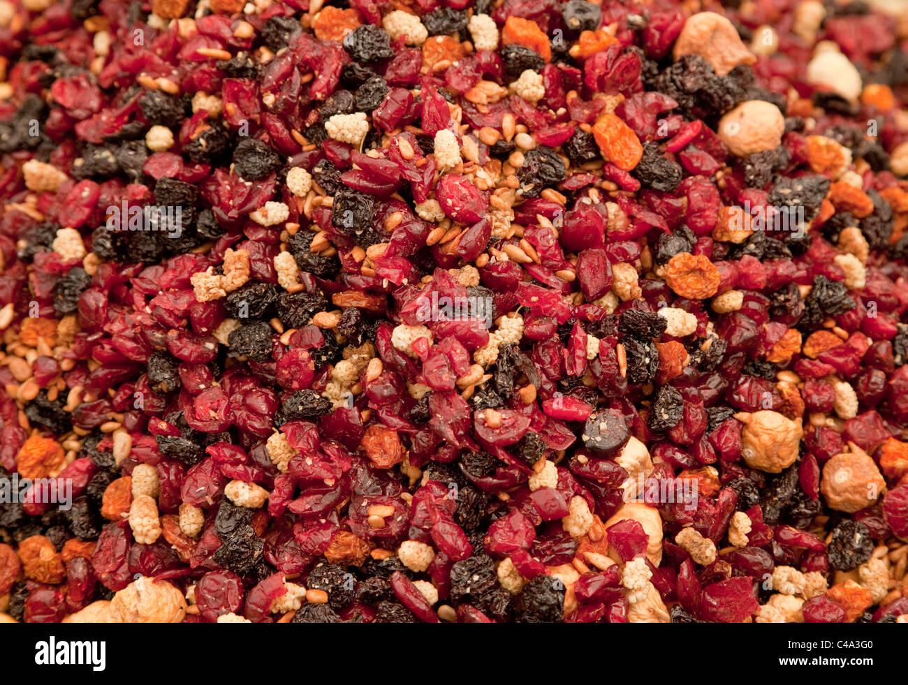 Dried fruit, mixed fruit - Trockenobst, Früchtemischung - Stock Image
