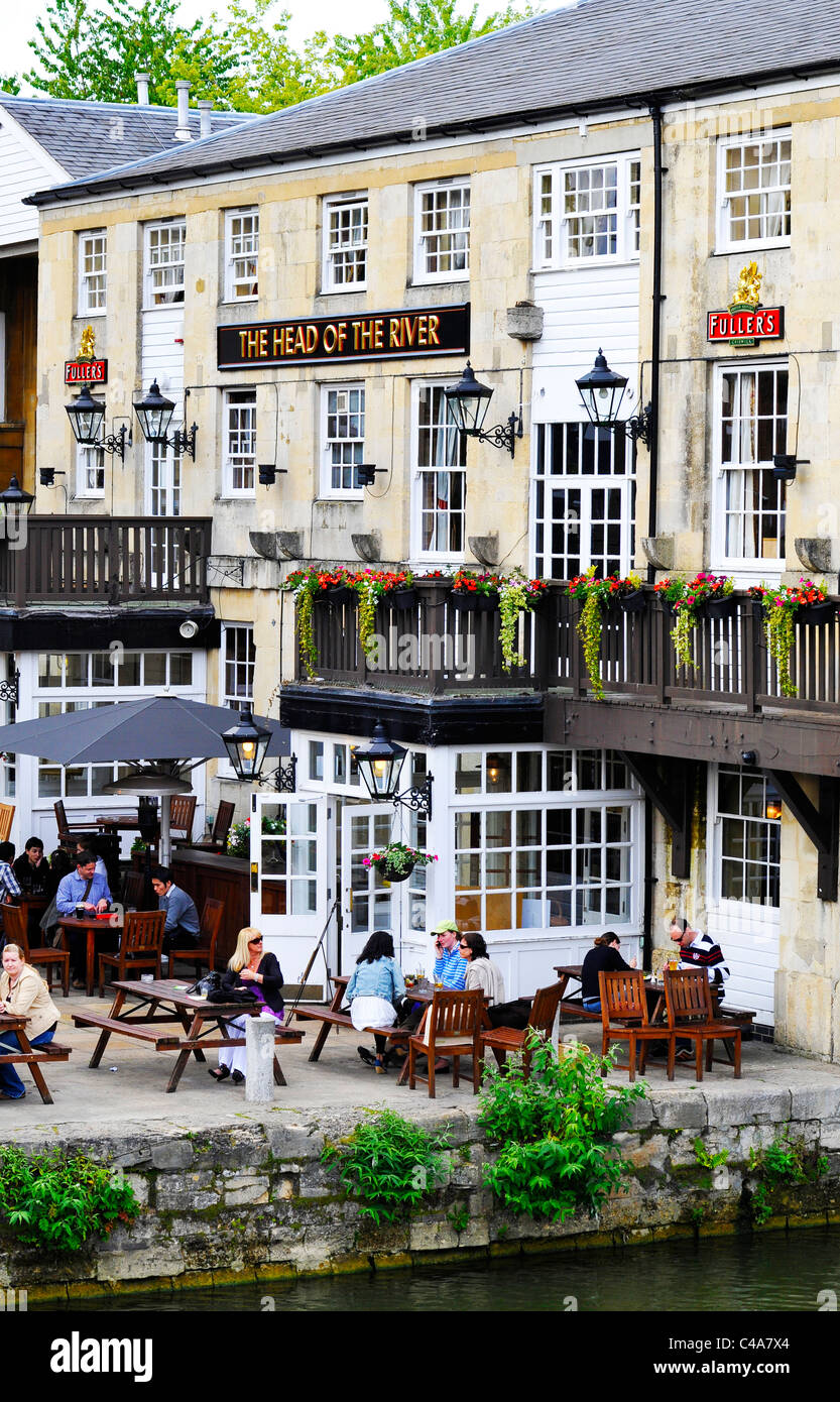 The Head of the River Pub at Oxford, England - Stock Image