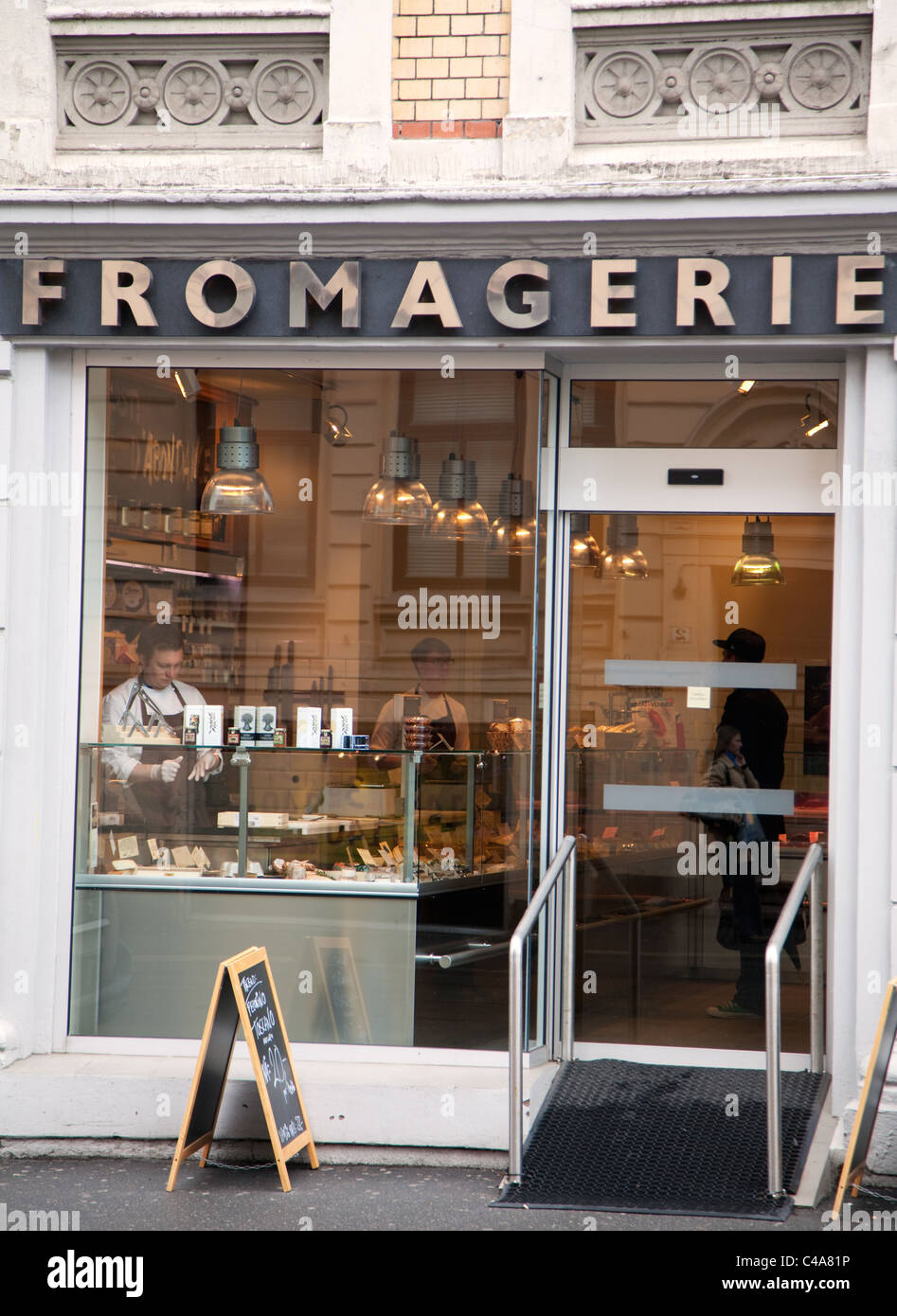 Fromagerie in Oslo, capital city of Norway - Stock Image