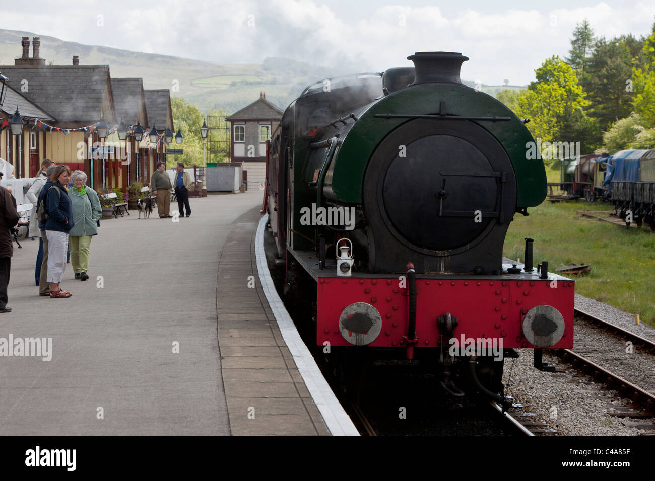 Saddle tanker at Bolton Abbey Station, North Yorkshire - Stock Image
