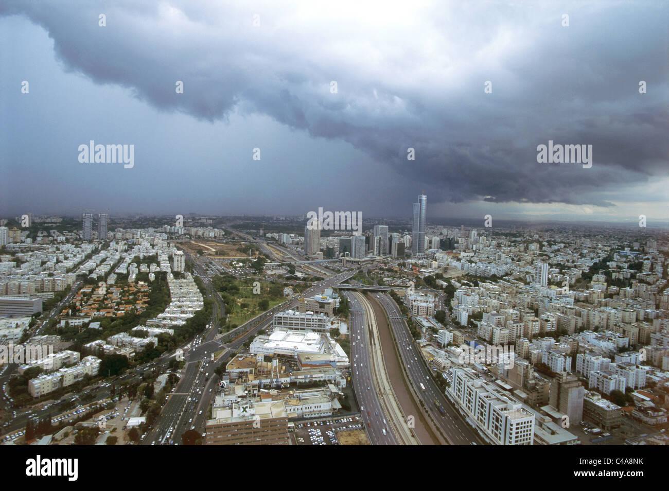 Aerial view of Dan's Metropolis at winter - Stock Image