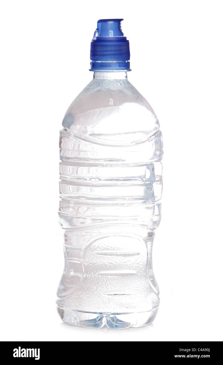 Bottle of water studio cutout - Stock Image