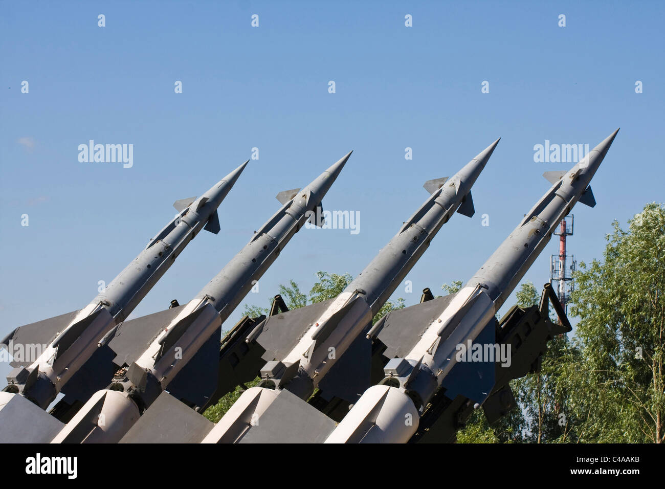 S-125 surface-to-air missile system, museum of military equipment - Stock Image