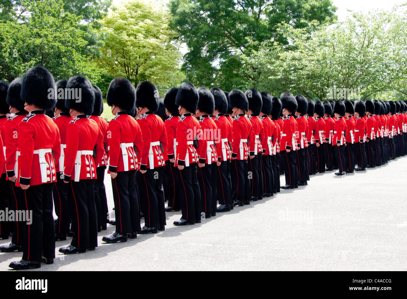 The 1st Battalion Scots Guards at the Freedom of Wantage Parade 21 May 2011. - Stock Image