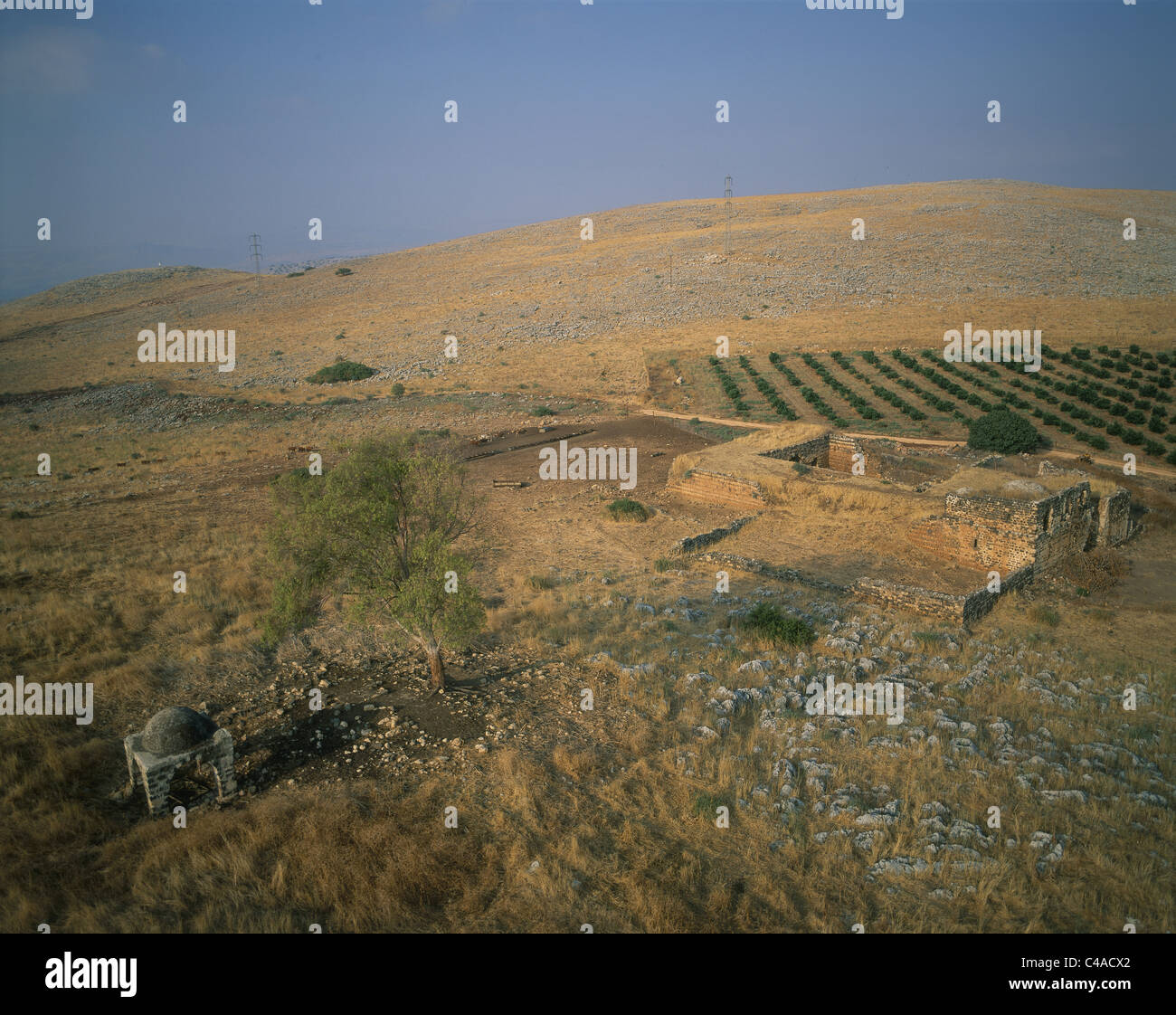 Aerial photograph of Jubb Yusuf in the Upper Galilee - Stock Image
