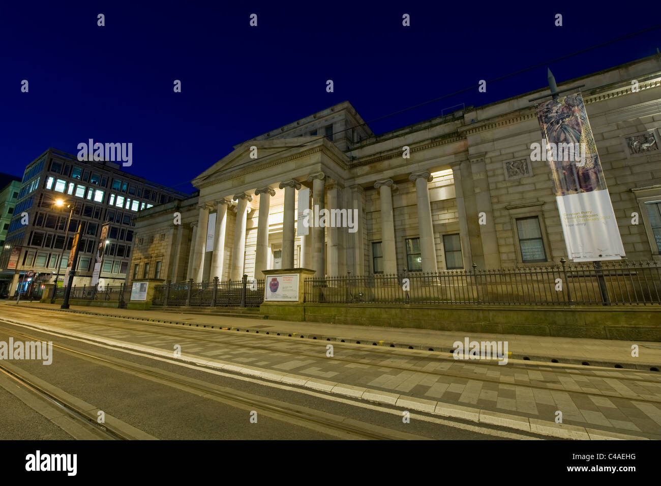 The Grade I listed Manchester Art Gallery building located on Mosley Street in the city centre of Manchester, UK, - Stock Image