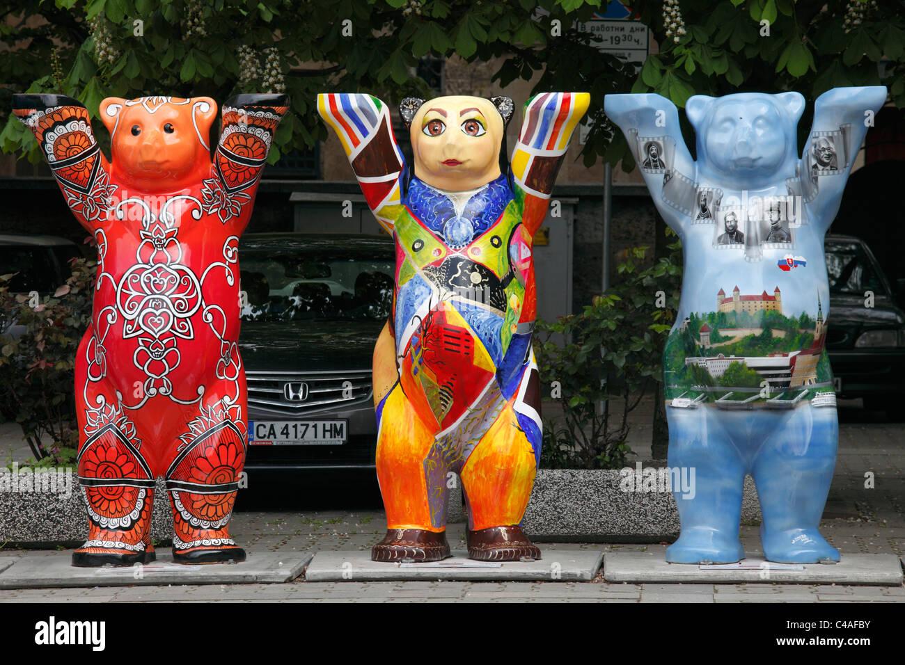 Bulgaria, Sofia, United Buddy Bears Exhibition, - Stock Image