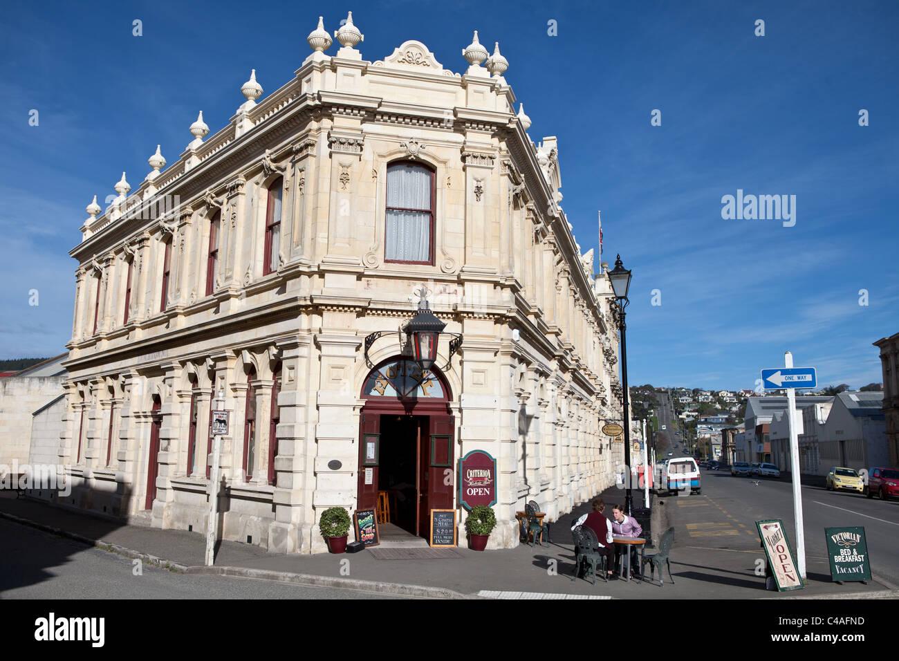 Historic Criterion Hotel, Oamaru, New Zealand - Stock Image