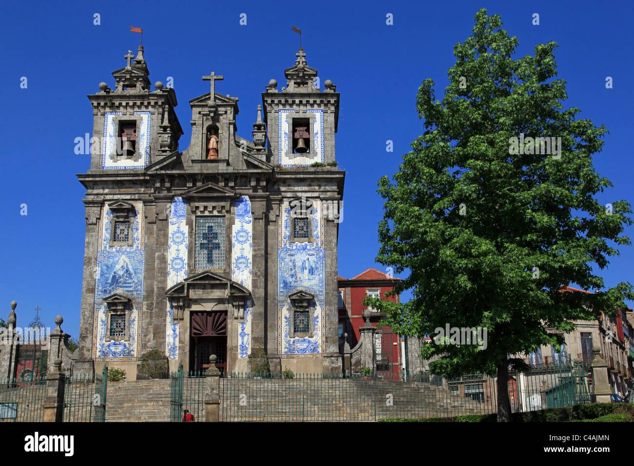 Igreja de Santo Ildefonso church, Porto, Portugal - Stock Image