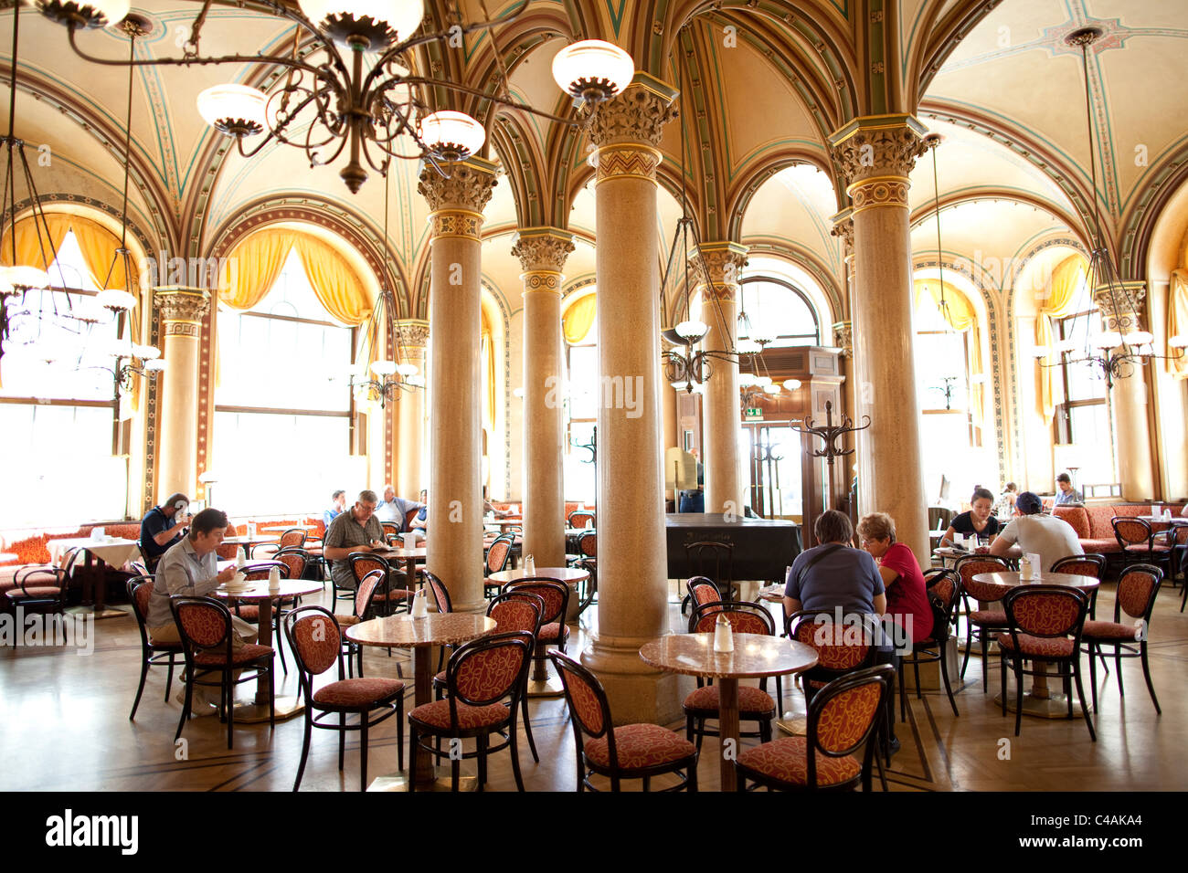 Café Central coffeehouse in Vienna. Photo:Jeff Gilbert - Stock Image