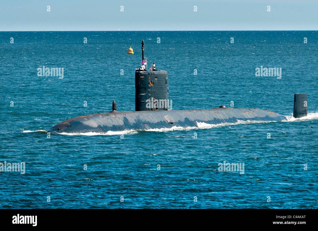 The Trafalgar class nuclear submarine HMS Triumph - Stock Image