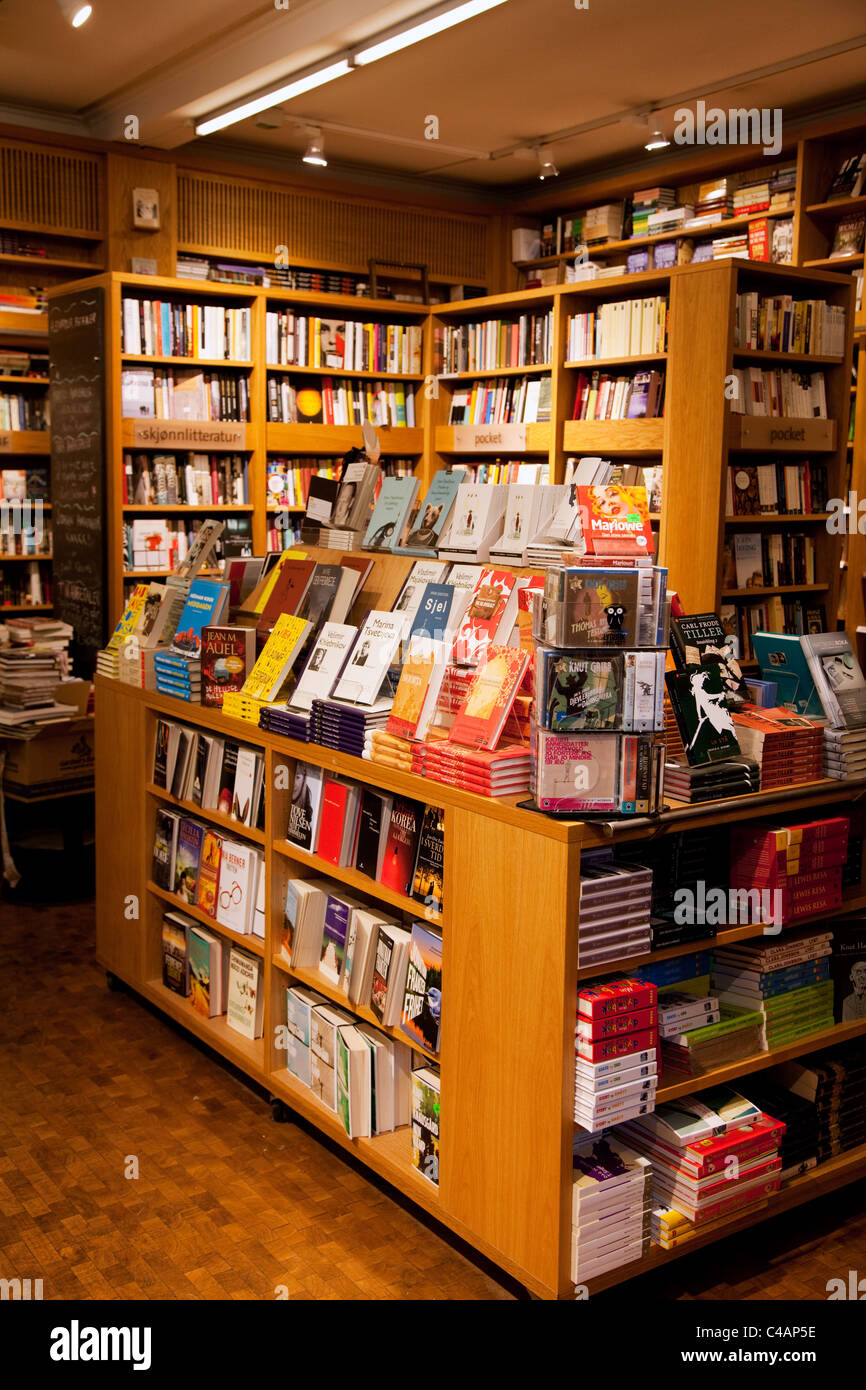 Litteraturhuset in Oslo, capital city of Norway: bookstore and cafe - Stock Image