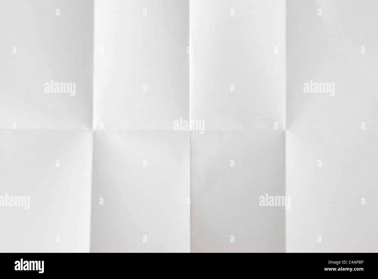wrinkled fold sheet of paper texture - Stock Image