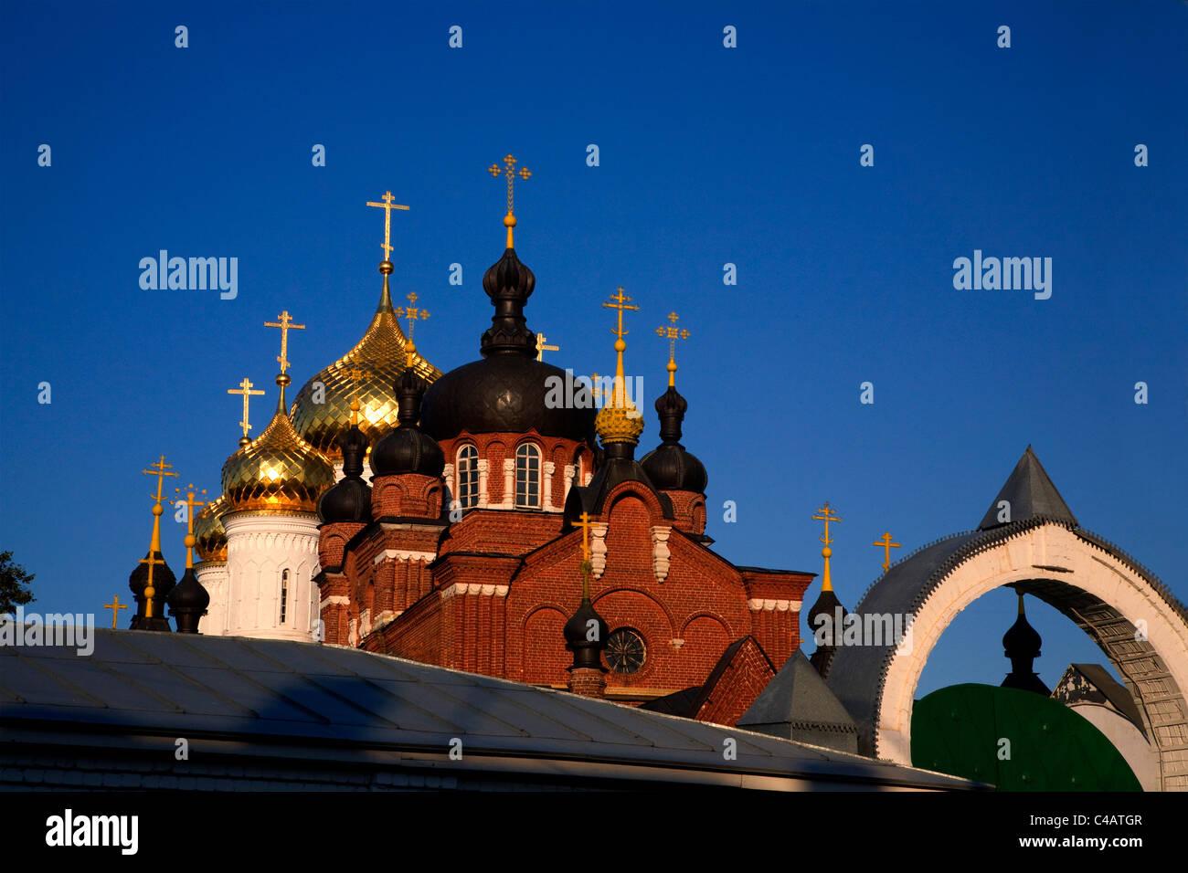 Russia, Golden Ring, Kostroma; The Bogoyavlensko-Anastasin Monastery in the historical centre Stock Photo