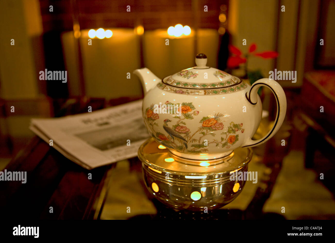 Moscow, Russia; A teapot in one of the luxury hotels just off red square Stock Photo