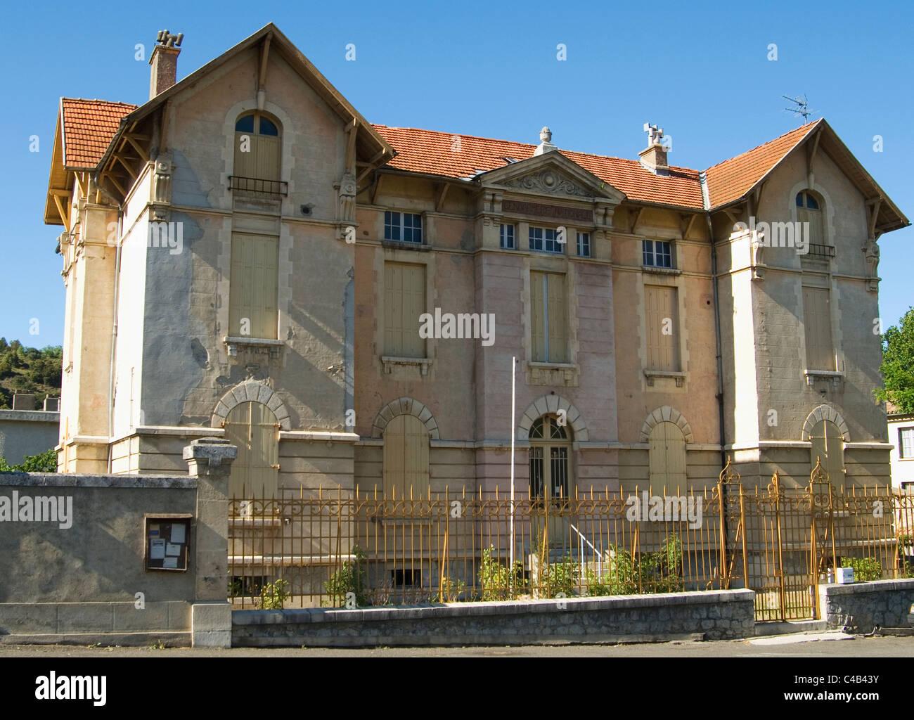 Old police station (gendarmerie), rural France - Stock Image
