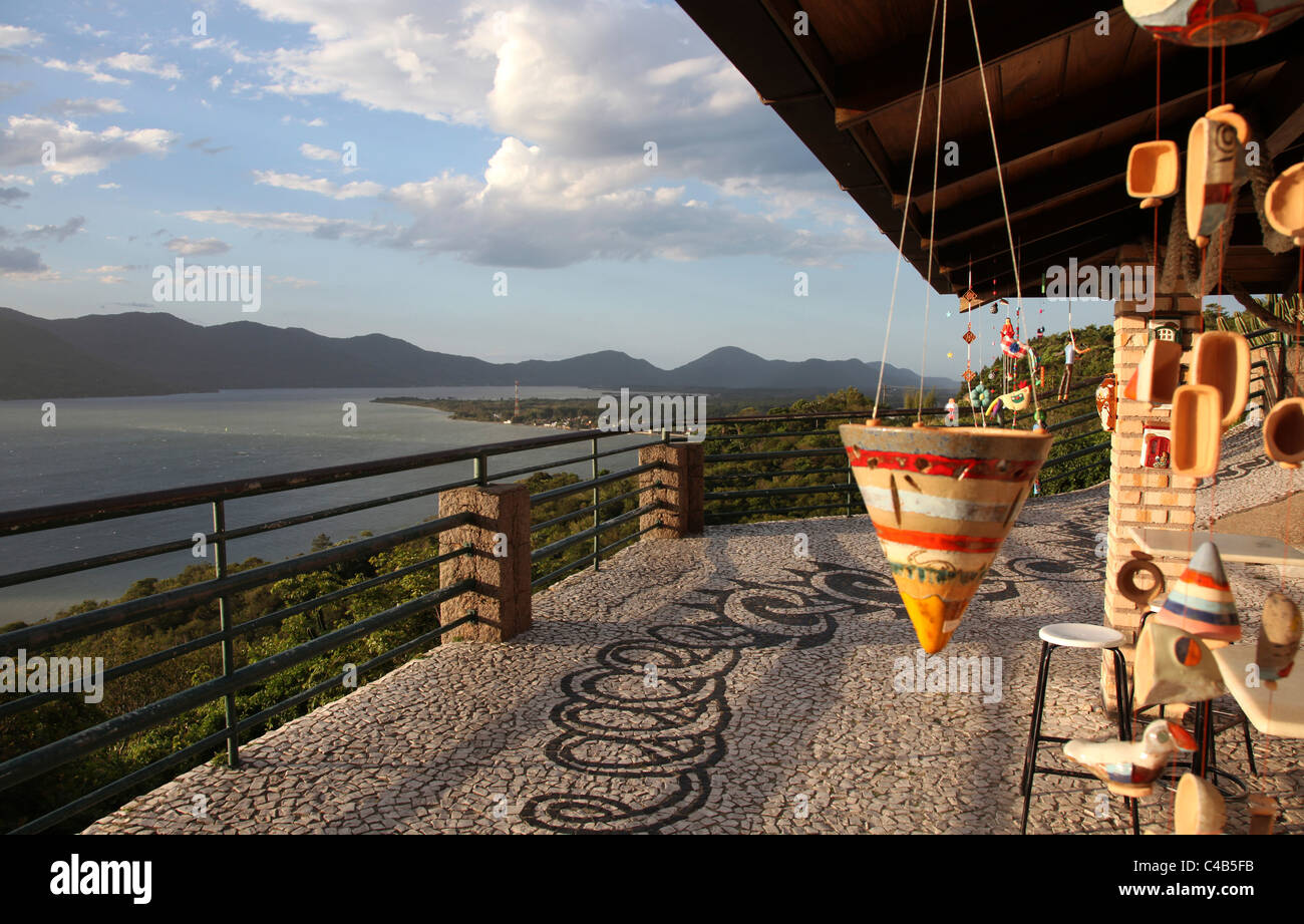 Viewpoint overlooking the Lagoa da Conceicao in Florianopolis. - Stock Image