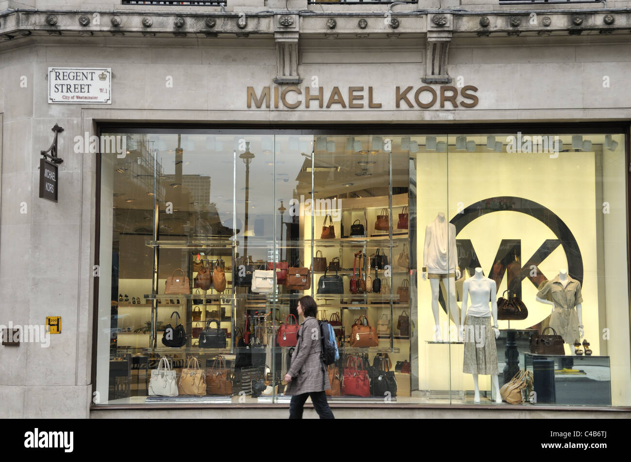 6d04e8e9a2a1 St Michael Kors fashion store on Regent Street, London Stock Photo ...