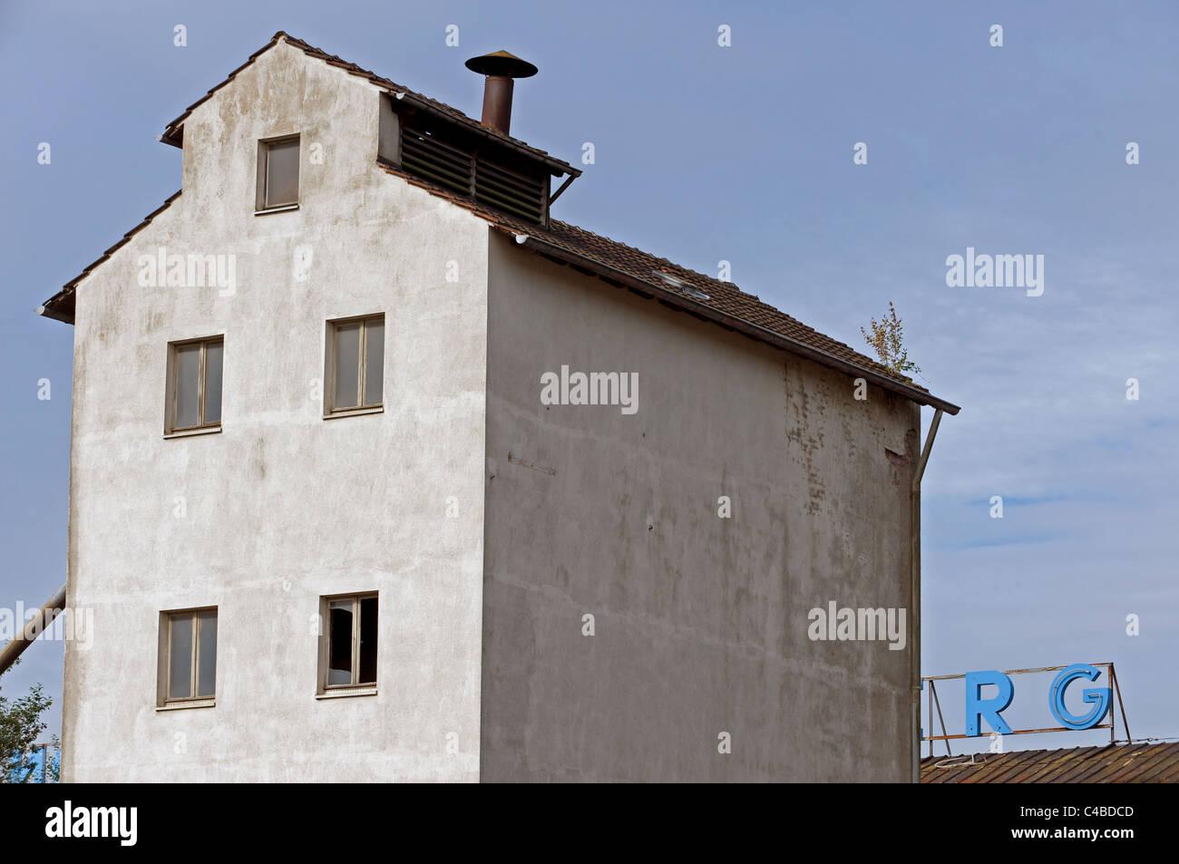 Disused grain mill, Leichlingen, Germany. - Stock Image