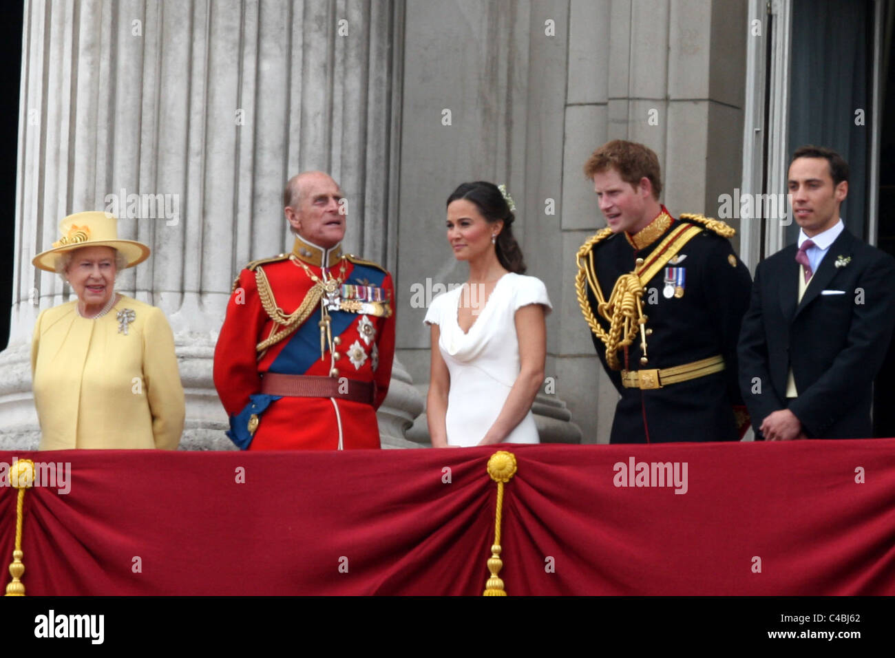 Pippa Middleton And Prince Harry At The Royal Wedding Of Prince