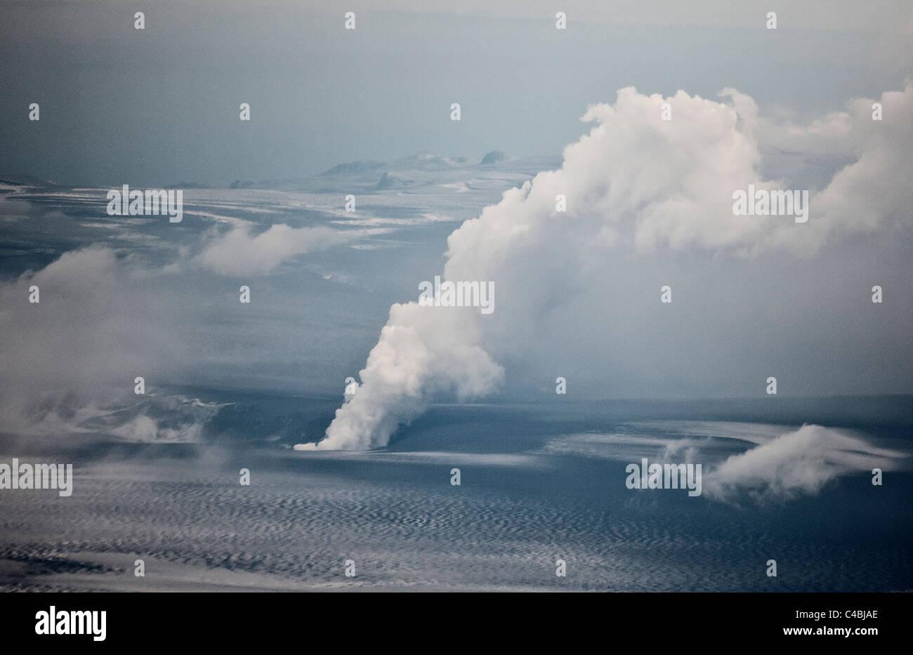 Grimsvotn Volcanic Eruption in the Vatnajokull Glacier, Iceland - Stock Image