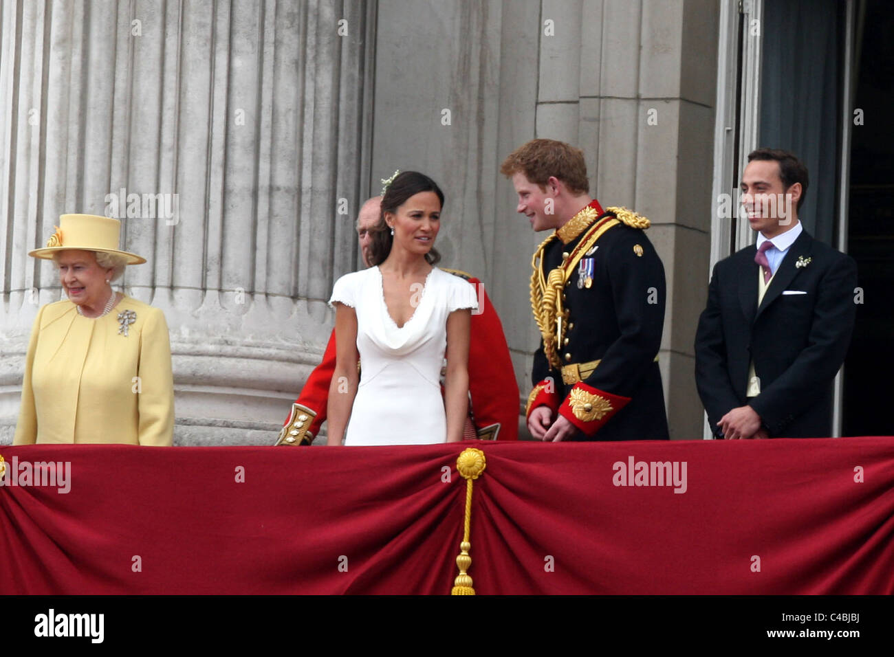 PIPPA MIDDLETON AND PRINCE HARRY AT THE ROYAL WEDDING OF PRINCE WILLIAM AND KATE MIDDLETON Stock Photo