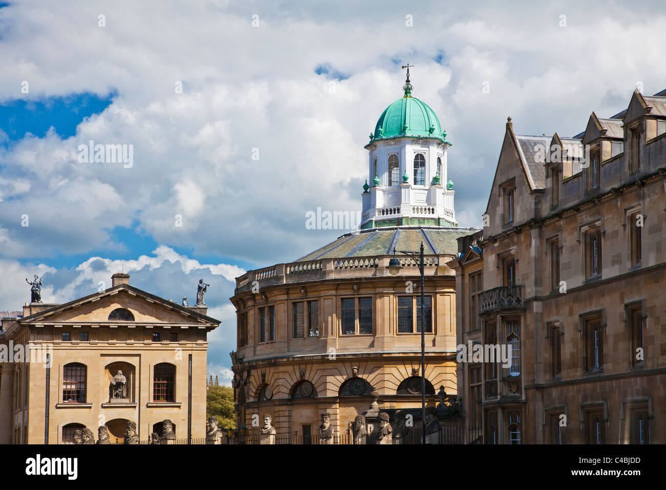 Clarendon Building and Sheldonian Theatre in Broad Street or The Broad, Oxford, England, UK Stock Photo