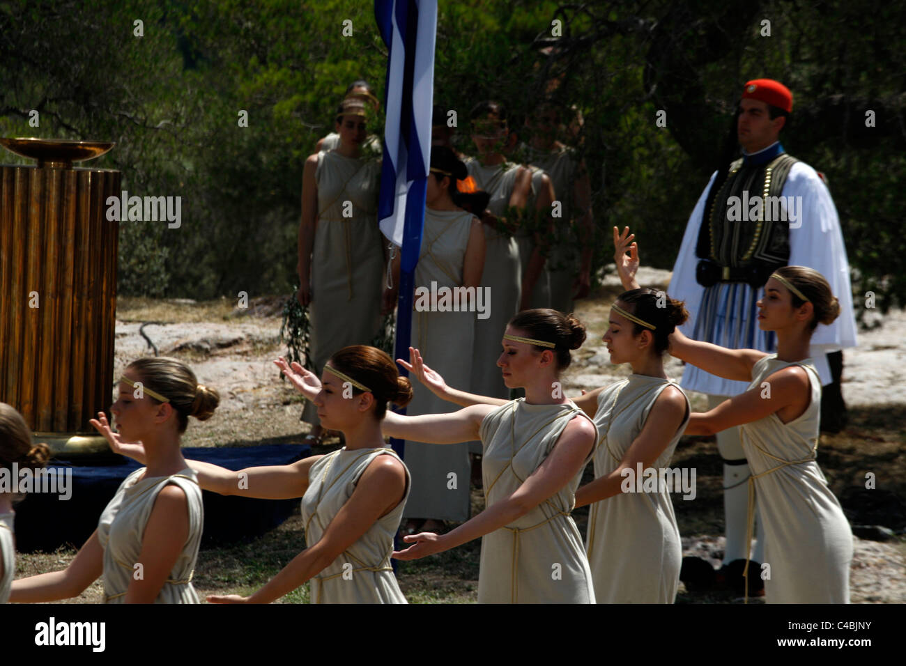 Special Olympics Torch Lighting Ceremony in Pnyx Athens Greece - Stock Image