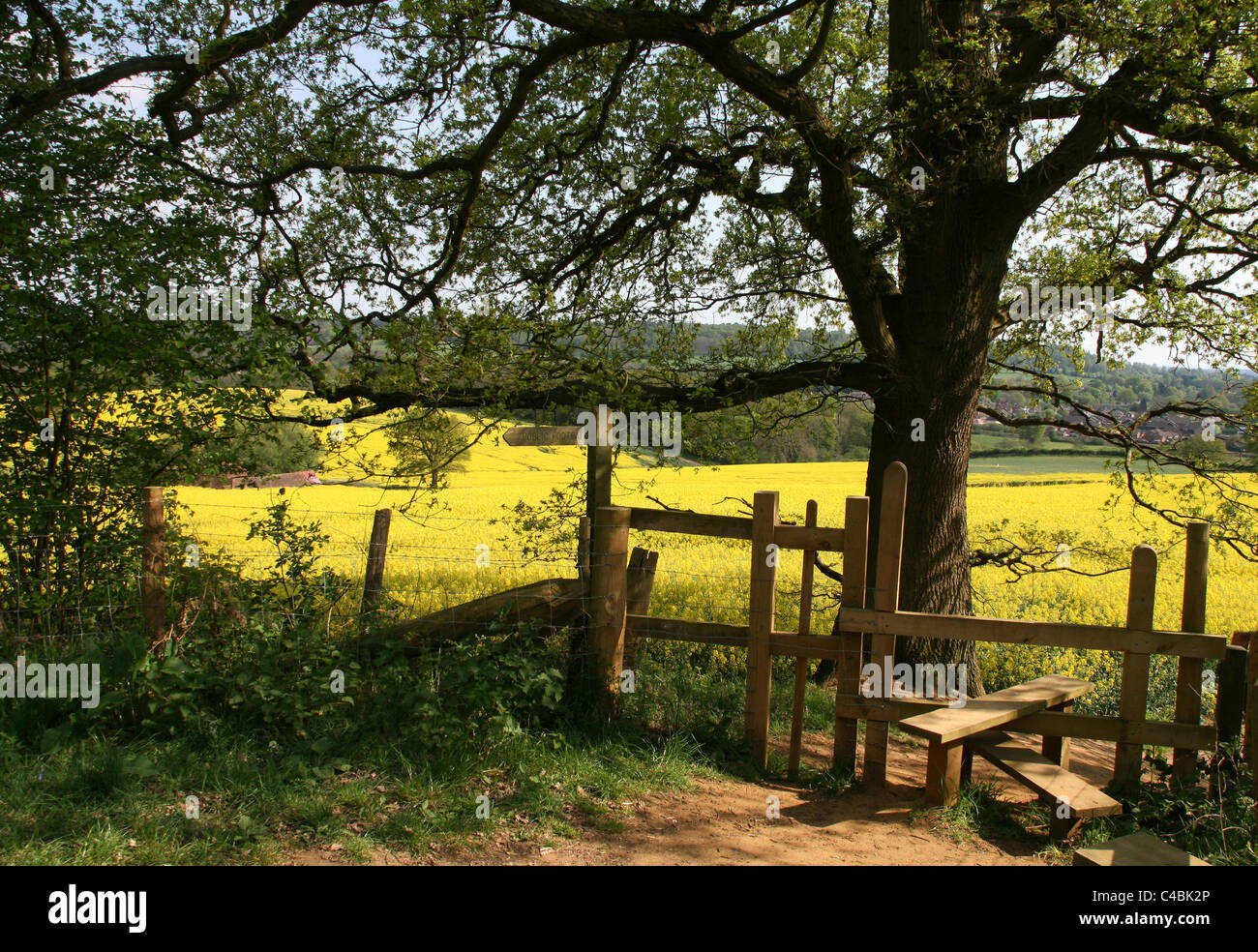 Country Stile And Footpath Stock Photo 37135806 Alamy
