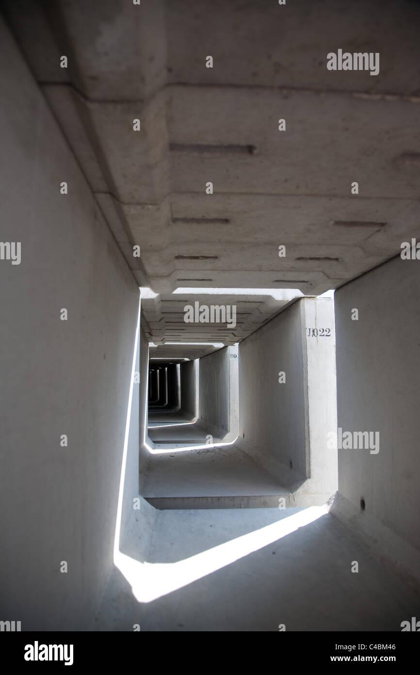 Tunnel boring Kowloon Hong Kong SAR CHINA - Stock Image