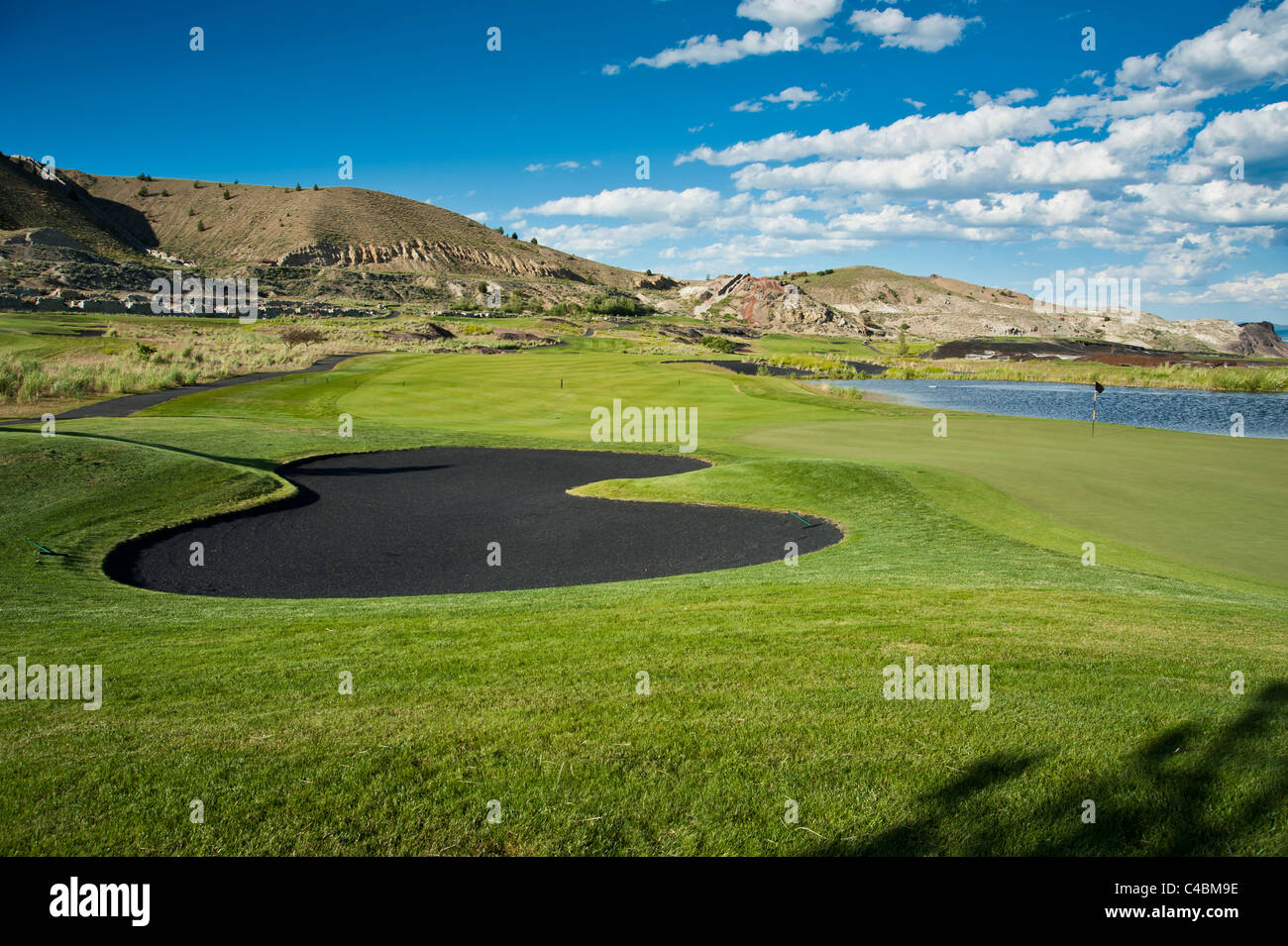 The 'Old Works Golf Course' in Anaconda, Montana. The Golf course was built over a superfund cleanup site. - Stock Image