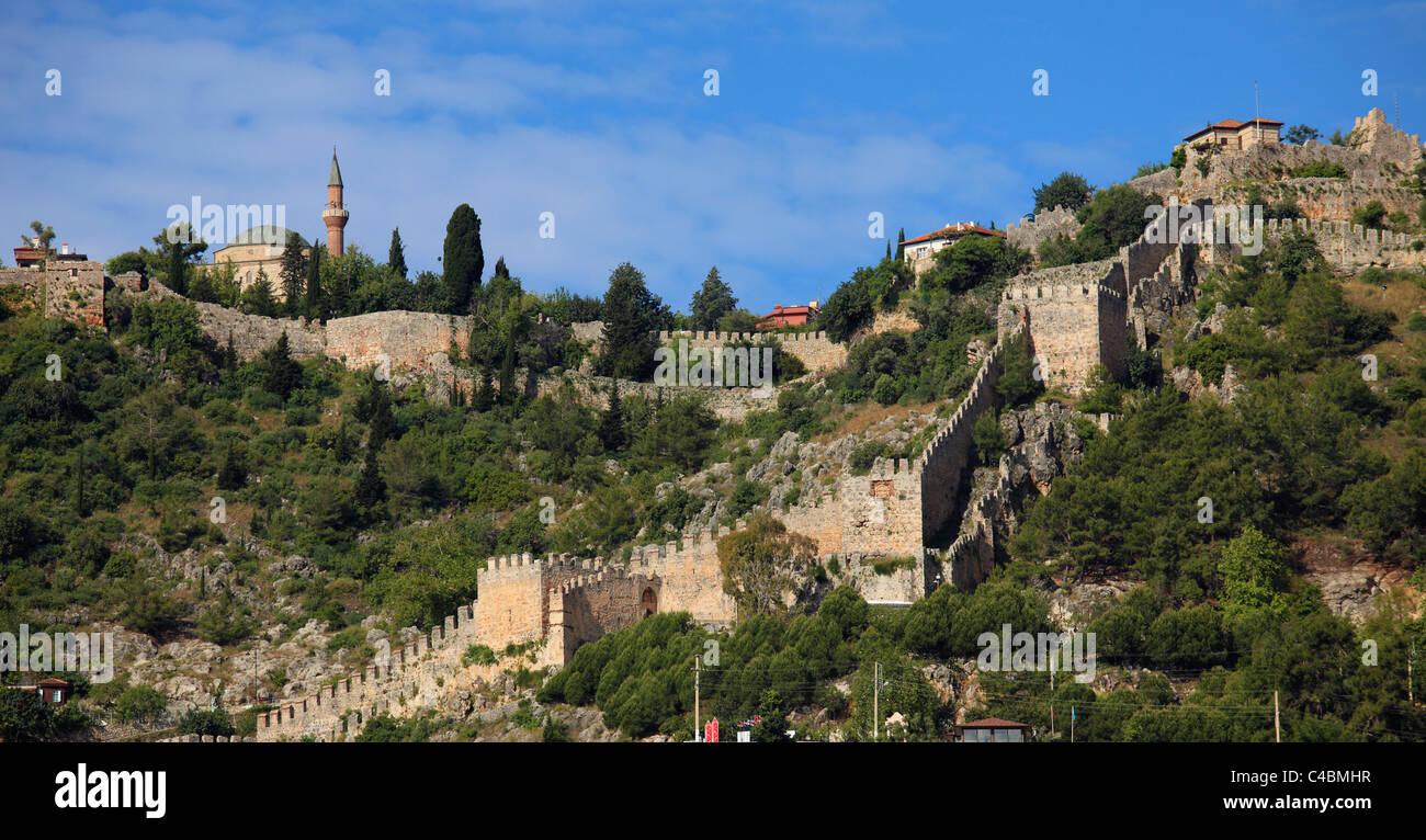 Turkey, Alanya, Fortress, - Stock Image