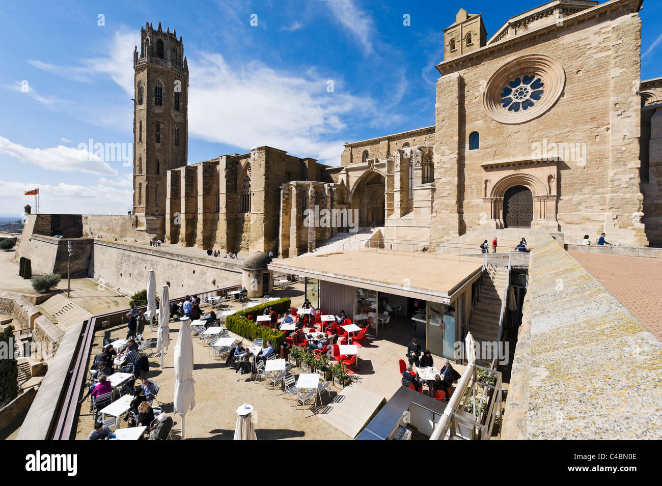 Cafe Terrace Overlooking The Seu Vella Old Cathedral