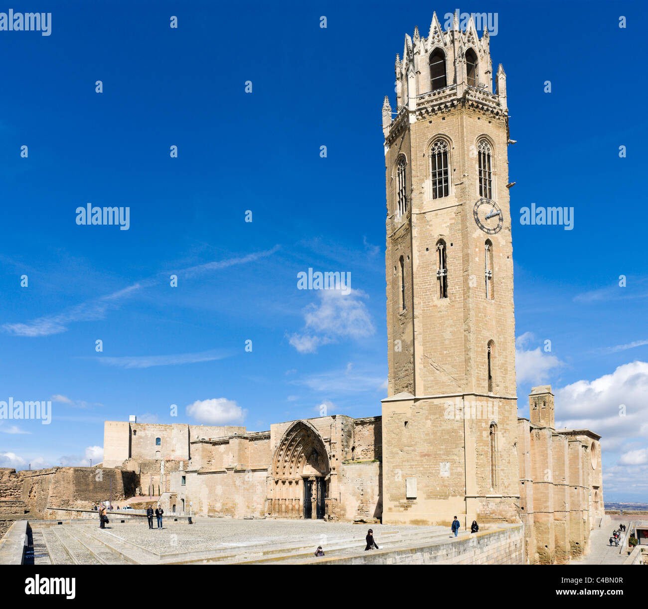 The Seu Vella (Old Cathedral), Lleida (Lerida), Catalunya, Spain - Stock Image