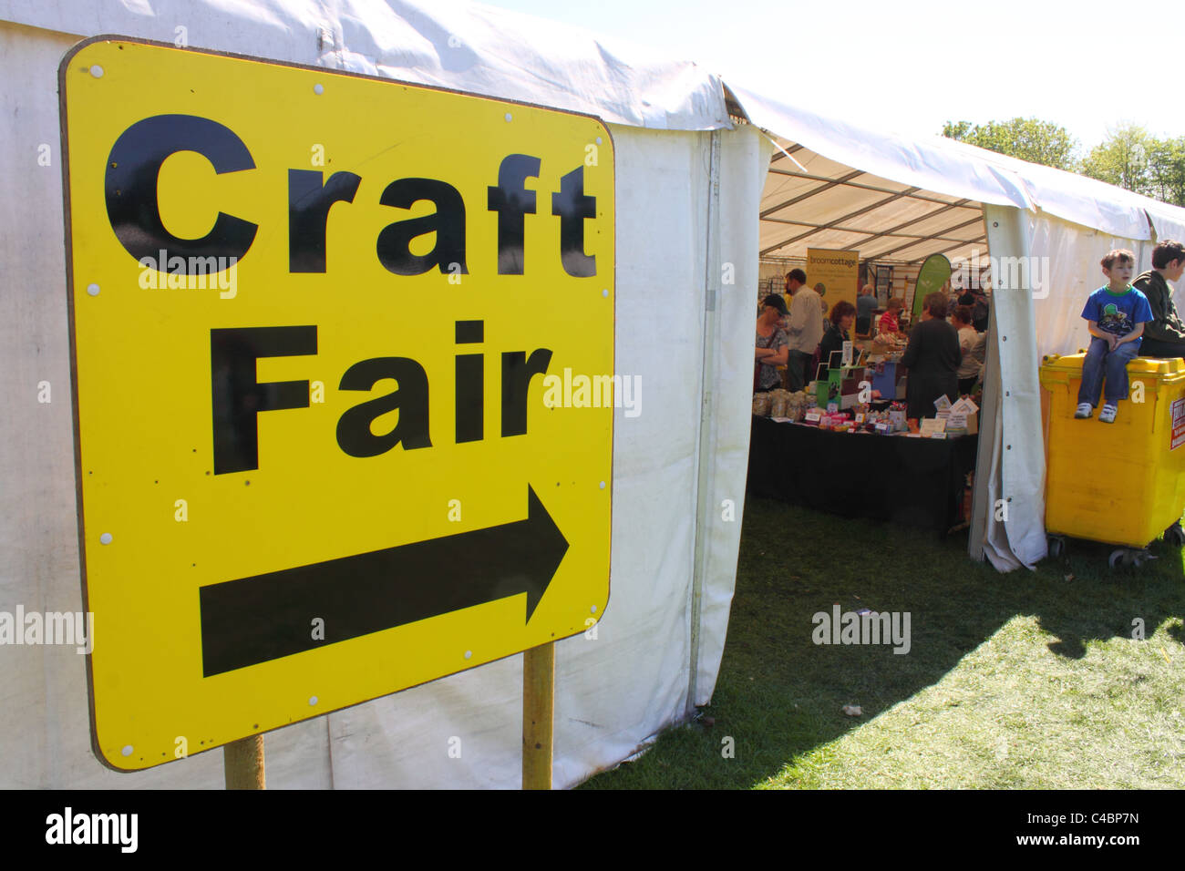 Large sign at entrance to Craft Fair at a local fete, Antrim, Northern Ireland - Stock Image